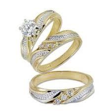 14k gold wedding ring sets his wedding rings set trio 10k yellow gold