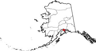 Map Of Alaska Cities File Map Of Alaska Highlighting Anchorage Municipality Svg
