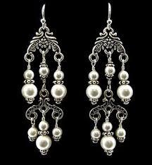 Chandelier Pearl Earrings For Wedding Best 25 Pearl Chandelier Ideas On Pinterest Diy Chandelier