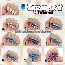zigzag ikat nail tutorial by nails at 2 am the beauty of nail