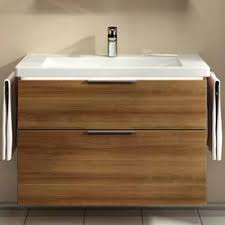 vitra ecora 2 drawers vanity unit and basin 900mm wide oak