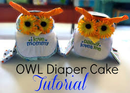 this owl diaper cake makes a fantastic baby shower gift