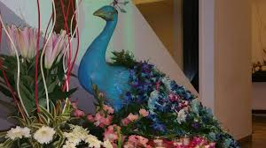Peacock Decorations by Peacock Themed Flower Decorations For Wedding 09891478183 The