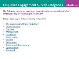 employee engagement survey template employee engagement survey