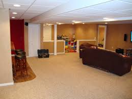 Simple Basement Designs by Cheap Basement Remodel 5572