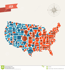 States Map Of Usa by Usa Abstract Map Royalty Free Stock Image Image 32692826