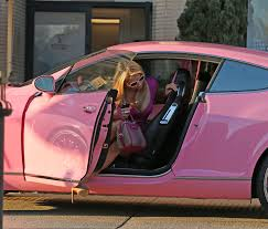 bentley pink paris hilton seen at barney u0027s for some shopping driving her pink
