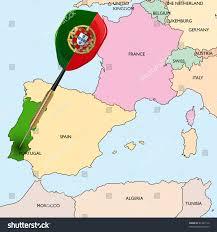 Dart Map Target Portugal Dart Hitting Portugal On Stock Vector 81407110