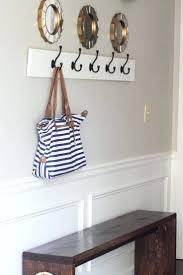 bathroom mounted coat rack design tree branch hooks shelf white