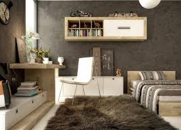Small Open Bookcase Small Bedroom Office Design Ideas Light Blue Wall Shelves White