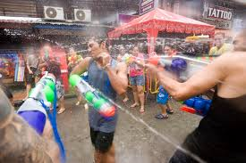 songkran thailand water festival and new year