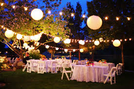 Backyard Wedding Lighting Ideas Poolside Backyard Wedding Backyard Backyard Weddings And Wedding