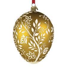 egg ornament mistetoe egg reed and barton blown glass christmas ornament