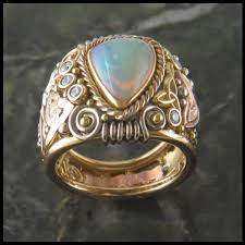 celtic ring opal celtic ring walker metalsmiths celtic jewelry