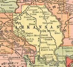 map of arkansas arkansas county arkansas genealogy history maps with de witt