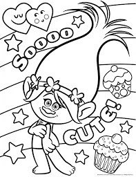 trolls coloring pages and tv show coloring pages