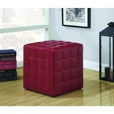Purple Ottoman by Monarch White Accent Ottoman I 8978 The Home Depot