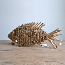 fish shape home decoration made decoration wooden craft
