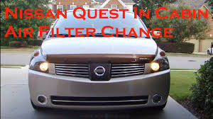 nissan quest rear nissan quest in cabin air filter replace 04 10 youtube