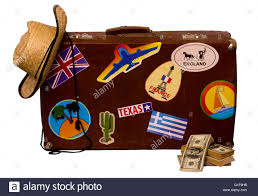 Texas traveling suitcase images Vintage suitcase old travel stickers retro stock photo royalty jpg