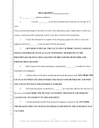 sample motion to vacate california divorce judgment for fraud and per u2026