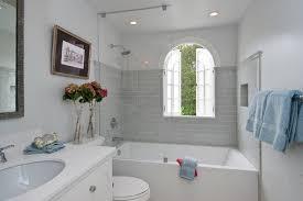 white small bathroom ideas white tub and grey wall in small bathroom home design ideas 4588