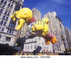 big bird balloon macy thanksgiving day parade broadway manhattan