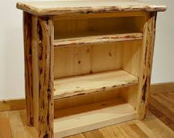 Rustic Wood Bookshelves by Small Bookcase Etsy