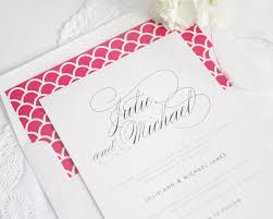 pink wedding invitations hot pink and navy wedding invitations wedding invitations
