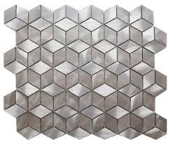 aluminium diamond cube silver mosaic tile solutions