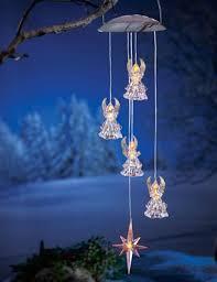 solar powered hanging angel outdoor decoration christmas decor