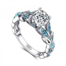 butterfly engagement rings jeulia butterfly cut created white sapphire with aquamarine