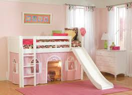 White Wood Loft Bed With Desk by Furniture Blue Wooden Playhouse Loft Bed With Stairs And Slide