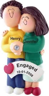 engagement both brown hair personalized