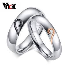 aliexpress buy vnox 2016 new wedding rings for women aliexpress buy vnox ring for women men stainless
