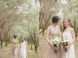 bride taupe junior bridesmaid white once wed