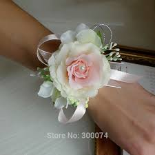 wedding wrist corsage free dhl artificial flower for wedding bridesmaid corsage flower