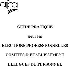 r artition des si es lections professionnelles guide pratique pour les elections professionnelles comites d