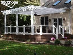 Prefab Pergola Kits by Vinyl Pergolas Attached To House This White Vinyl Pergola Kit