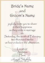 sle of wedding invitation wording emily