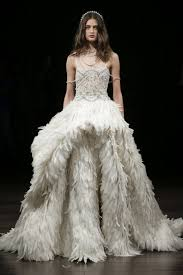 feather wedding dress birds of a feather 38 feathered wedding gown styles