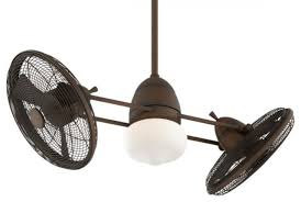 minka aire gyro 1 light brushed nickel chrome dual in ceiling fans
