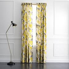 Yellow Window Curtains Landsmeer Grey And Yellow Curtain Panel