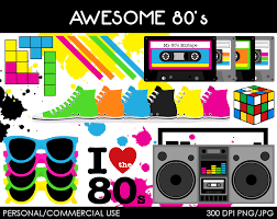 awesome 80 u0027s clipart digital clip art graphics by mareetruelove