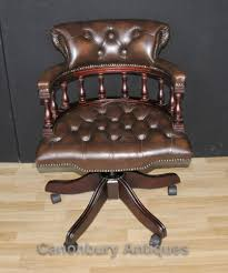 Antique Captains Chair Victorian Captains Chair Office Swivel Desk Chairs With Leather