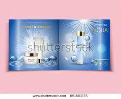 moisturizing face cream package cosmetics design stock vector