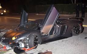 lamborghini aventador beverly chris brown s lamborghini aventador crashed in beverly
