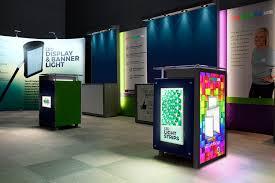 custom led light box panels trade show lighting display