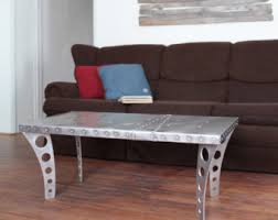 Airplane Wing Coffee Table by Airfoil Desk Aluminum Aviator Wing Desk Industrial