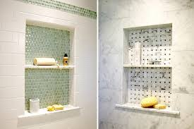 bathroom niche ideas finishing shower niche with different tile is the trendiest idea